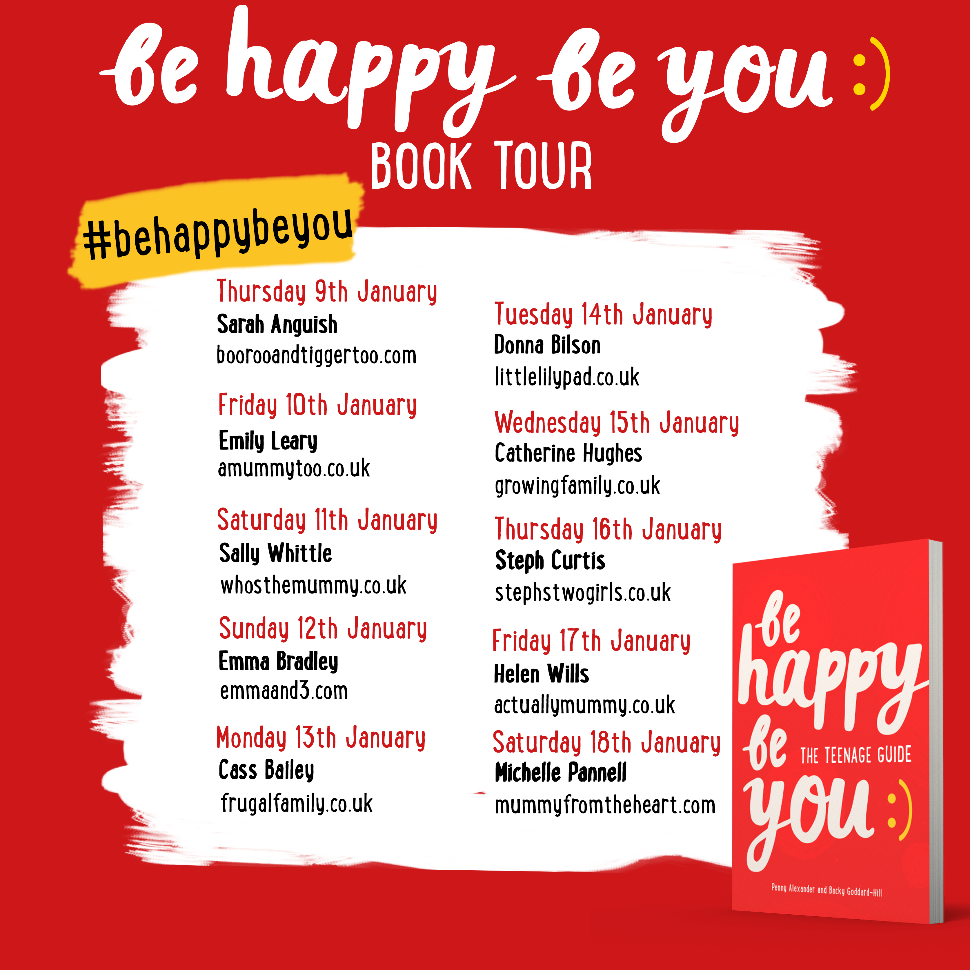 The Be Happy Be You Book Tour